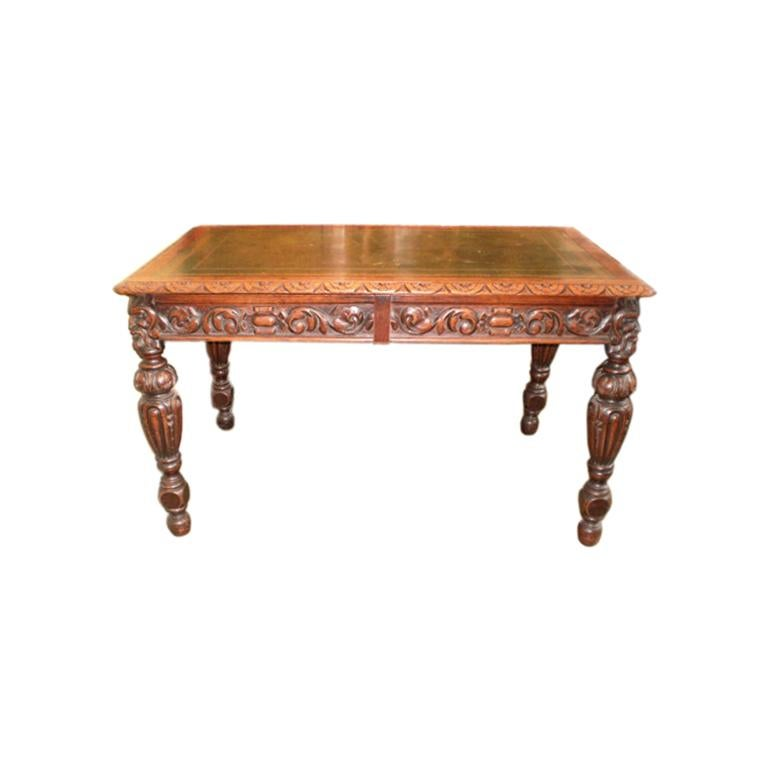 19th Century Italian Two-Drawer Desk Or Writing Table For Sale