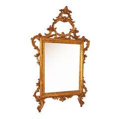 19th Century Italian Venetian Giltwood Mirror