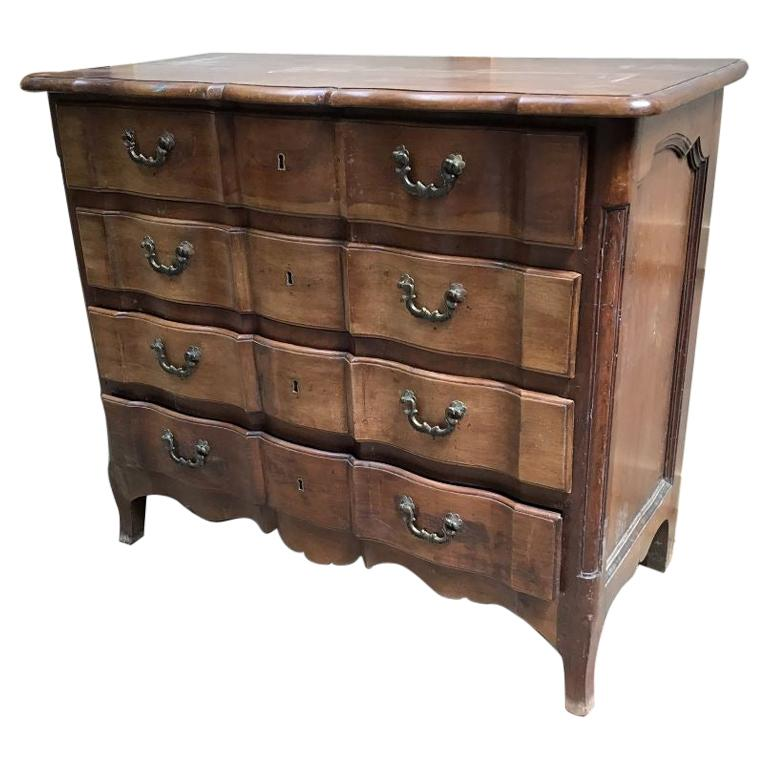 19th Century Italian Walnut Chest of Drawers, 1890s For Sale