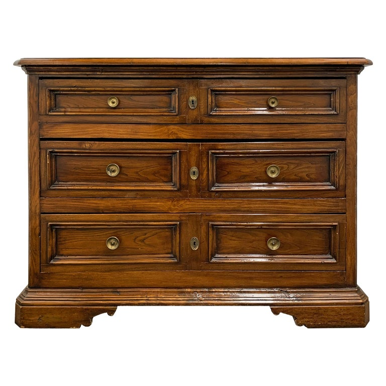 19th Century Italian Walnut Chest of Drawers For Sale