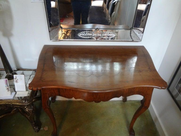 19th Century Italian Walnut Console Table For Sale 4