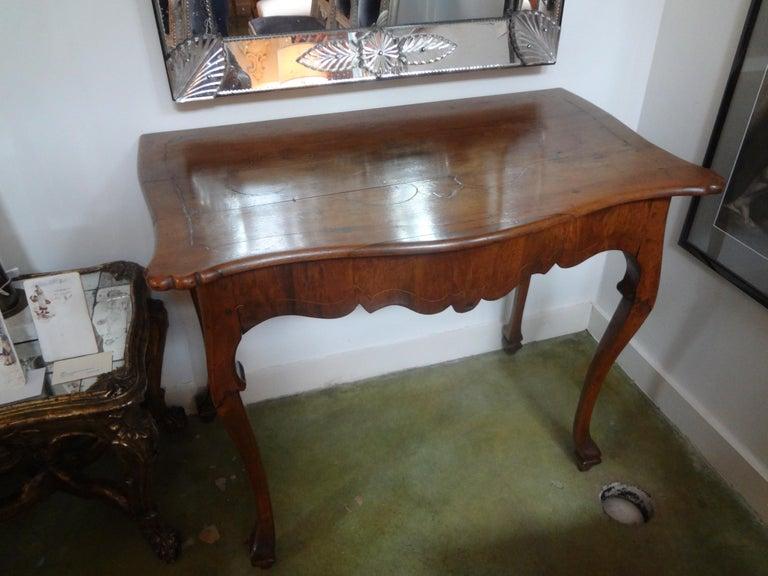 19th Century Italian Walnut Console Table For Sale 3
