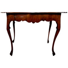 19th Century Italian Walnut Console Table