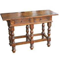 19th Century Italian Walnut console Table