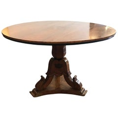 19th Century Italian Walnut Dining Room Circular Table Tilt-Top Table