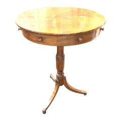 19th Century Italian Walnut Pedestal Side Table