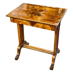 19th Century Italian Walnut Side Table