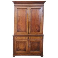 19th Century Italian Walnut Wood Sideboard or Buffet, 1850s