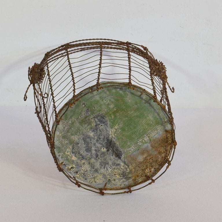 19th Century Italian Wirework Basket For Sale 7