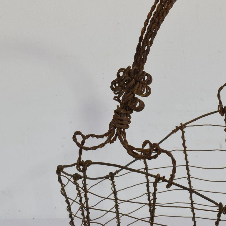 19th Century Italian Wirework Basket For Sale 8