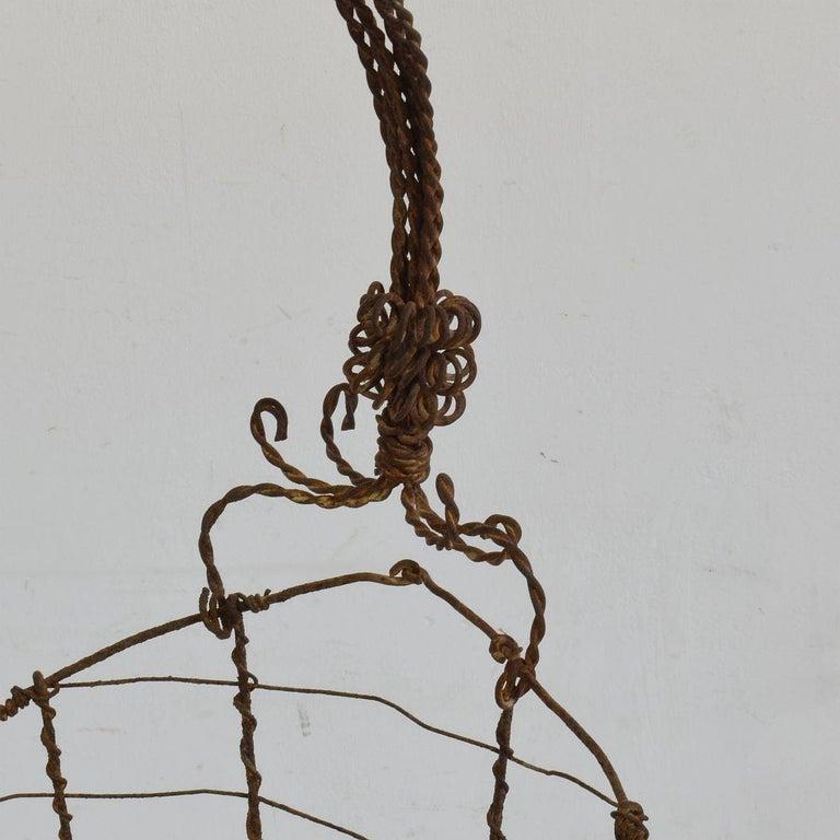 19th Century Italian Wirework Basket For Sale 9