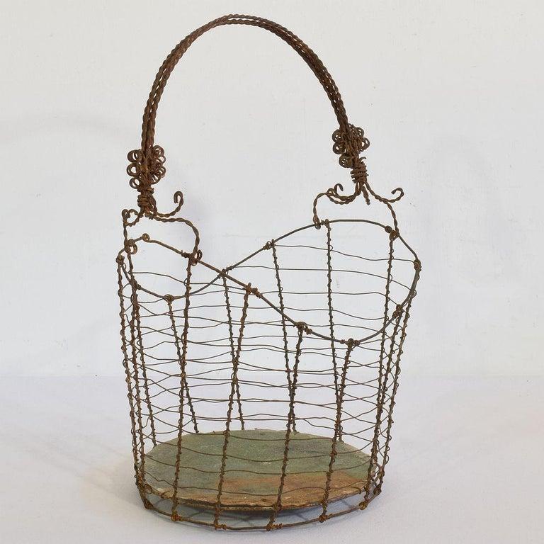 19th Century Italian Wirework Basket For Sale 1