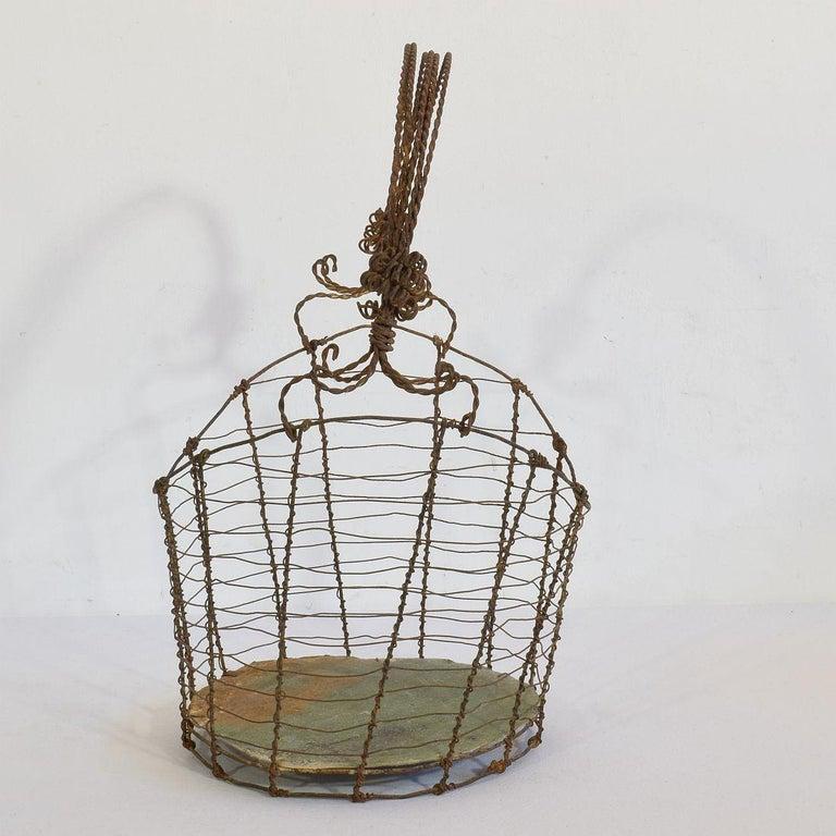 19th Century Italian Wirework Basket For Sale 2