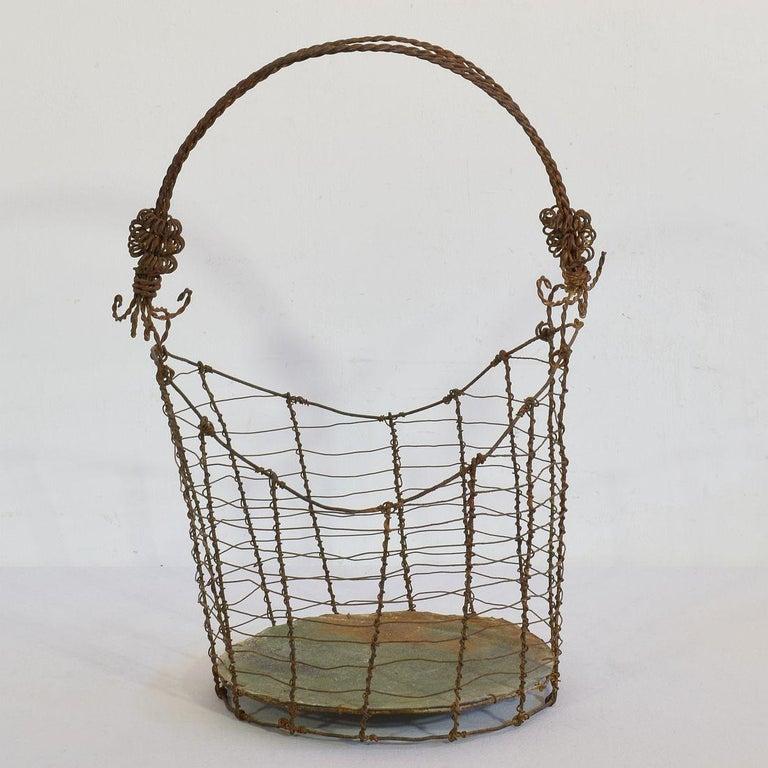 19th Century Italian Wirework Basket For Sale 3