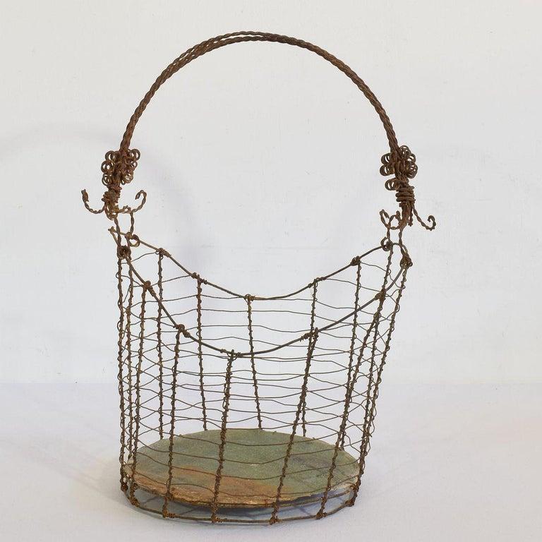 19th Century Italian Wirework Basket For Sale 5