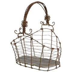 19th Century Italian Wirework Basket