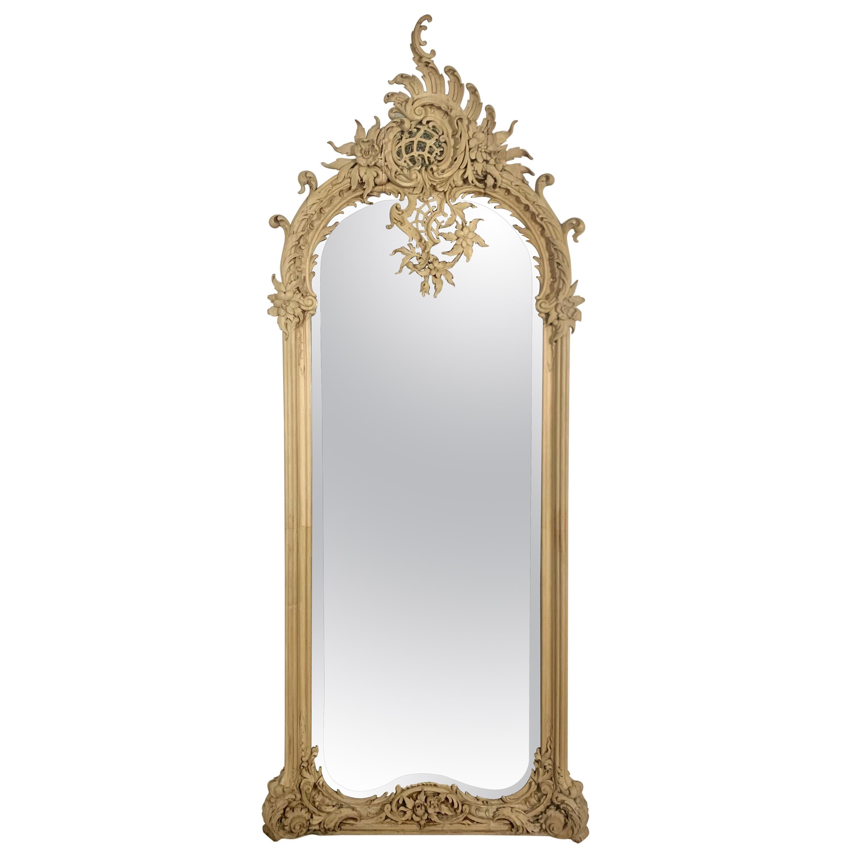19th Century Italian Wood Carved Mirror