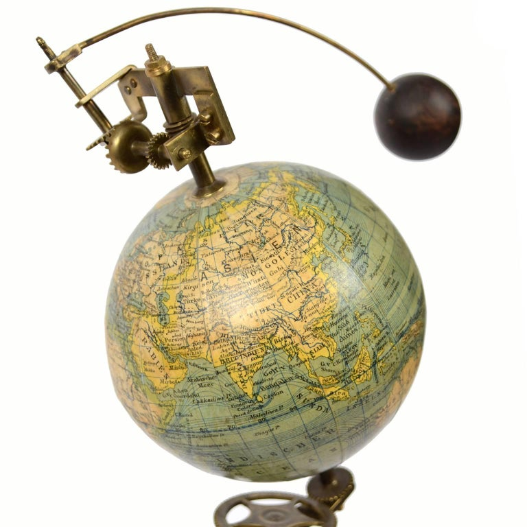19th Century Jan Felkl Brass Czech Orrery, 1860s For Sale 5