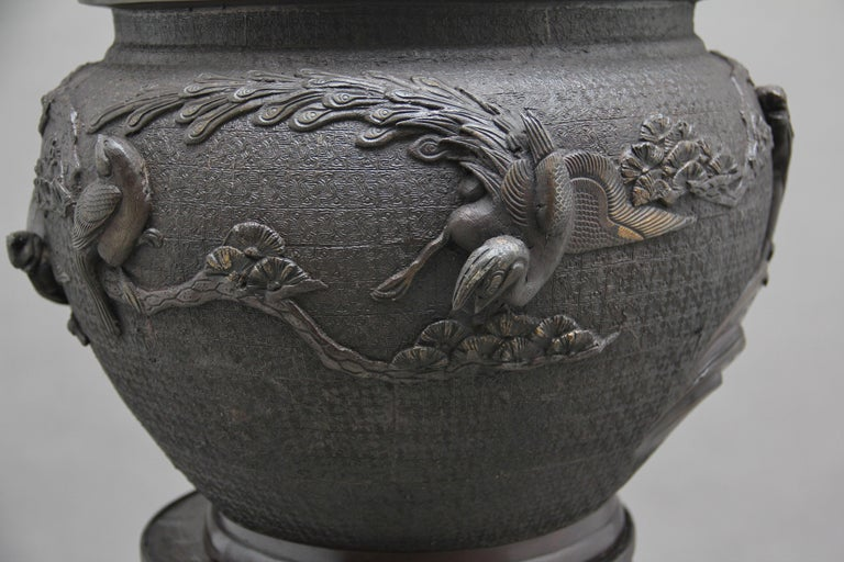 19th Century Japanese Bronze Jardinere on Stand 3