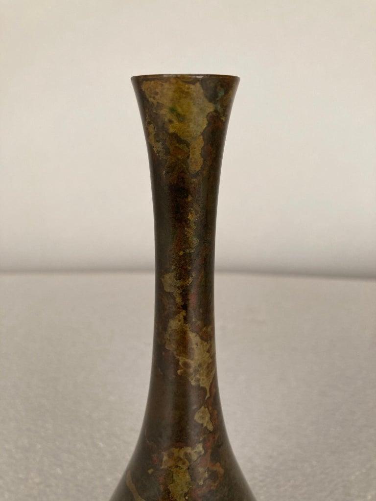 19th Century Japanese Bronze Vase For Sale 4