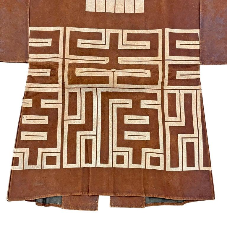 19th Century Japanese Firemen's Coat on Custom Mount For Sale 5