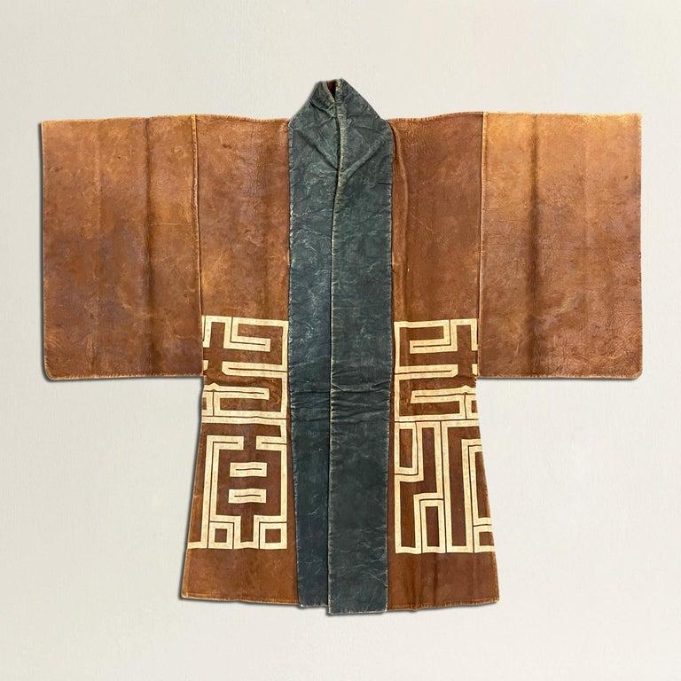 Modern 19th Century Japanese Firemen's Coat on Custom Mount For Sale