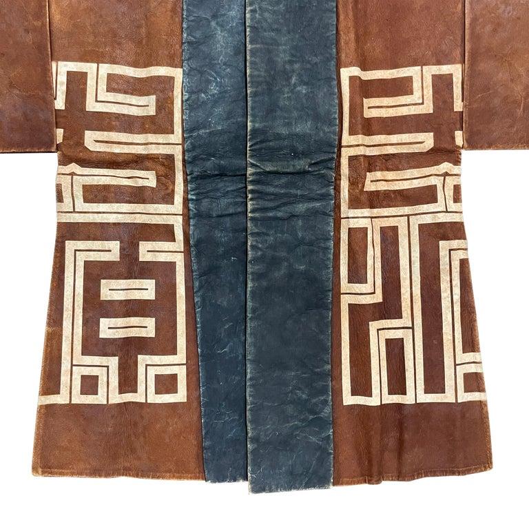 19th Century Japanese Firemen's Coat on Custom Mount For Sale 1