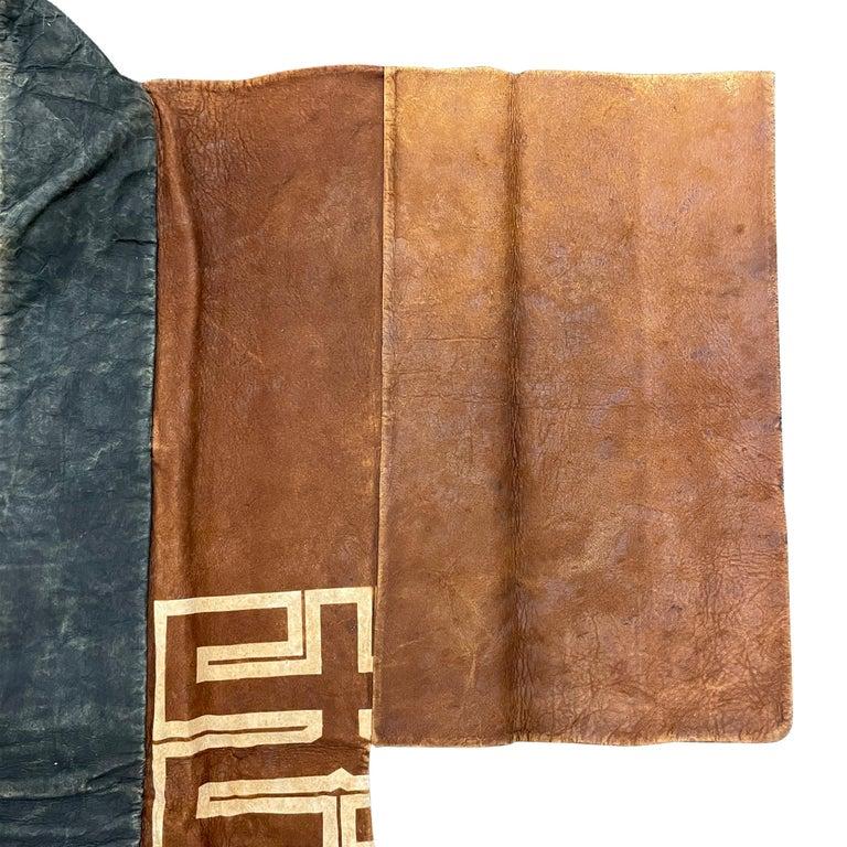 19th Century Japanese Firemen's Coat on Custom Mount For Sale 2
