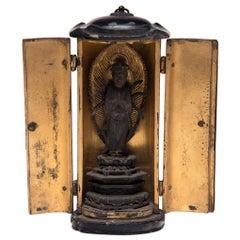 19th Century Japanese Gilt Traveling Shrine