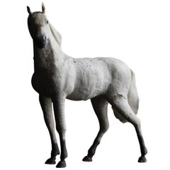 19th Century Japanese Horse Antique Object Decoration Sculpture Ornament