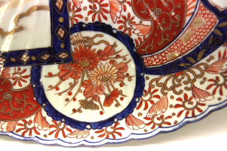 Porcelain 19th Century Japanese Imari Chager For Sale