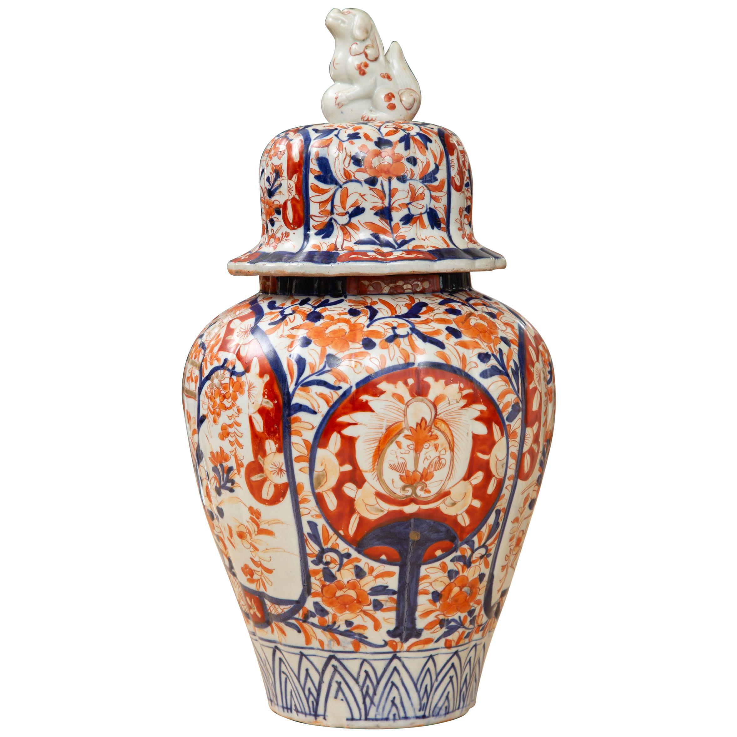 19th Century Japanese Imari Lidded Vase