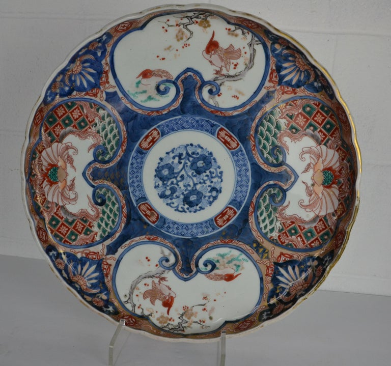 19th Century Japanese Imari Platter In Good Condition For Sale In Pasadena, CA