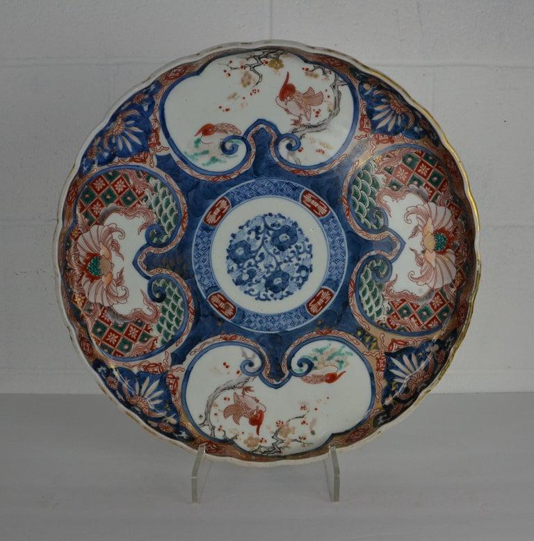 Porcelain 19th Century Japanese Imari Platter For Sale