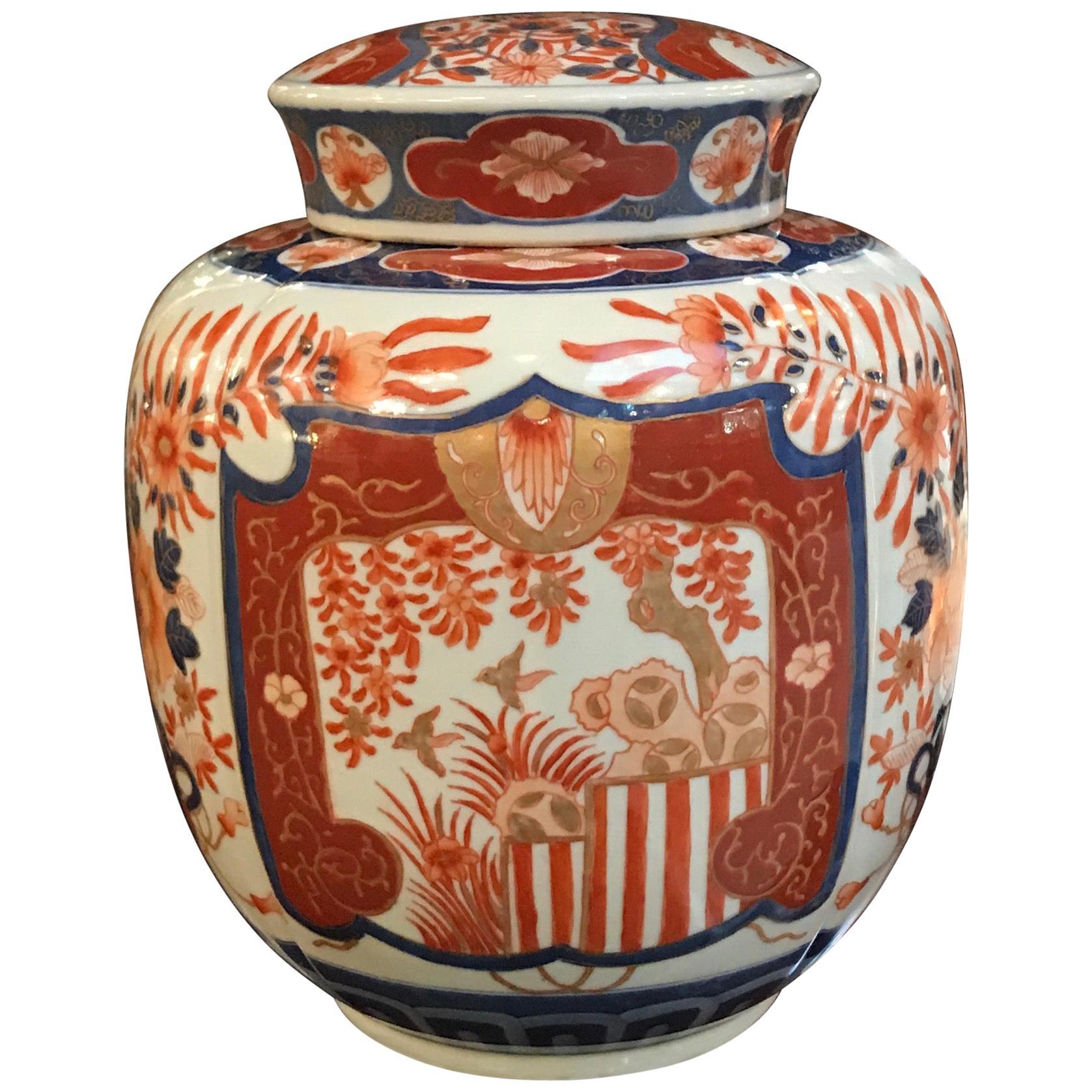 19th Century Japanese Imari Porcelain Jar