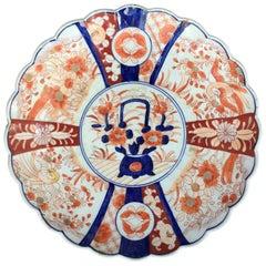 19th Century Japanese Imari Round Porcelain Charger, Unmarked