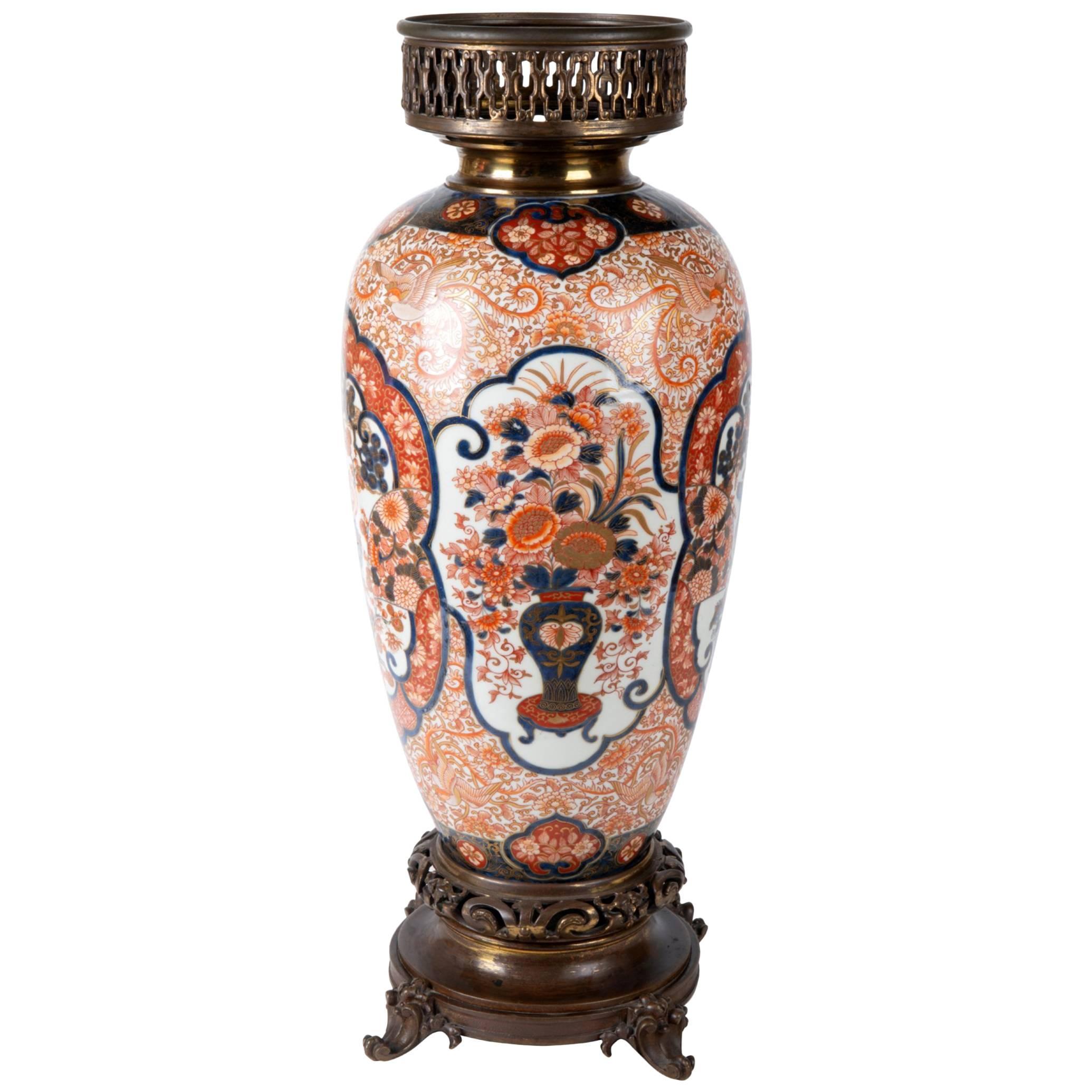 19th Century Japanese Imari Vase or Lamp