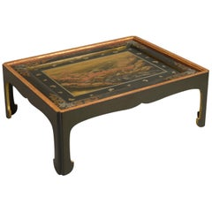 19th Century Japanese Lacquer Panel Low Table