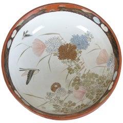 19th Century Japanese Meiji Imari Painted Porcelain Serving Bowl Centerpiece