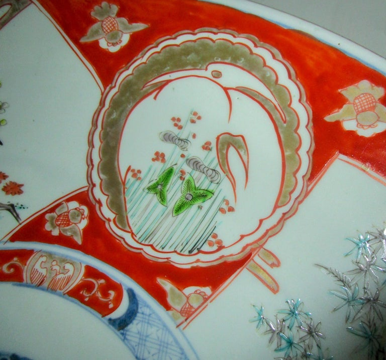 19th Century Japanese Meiji Period Imari Charger For Sale 5