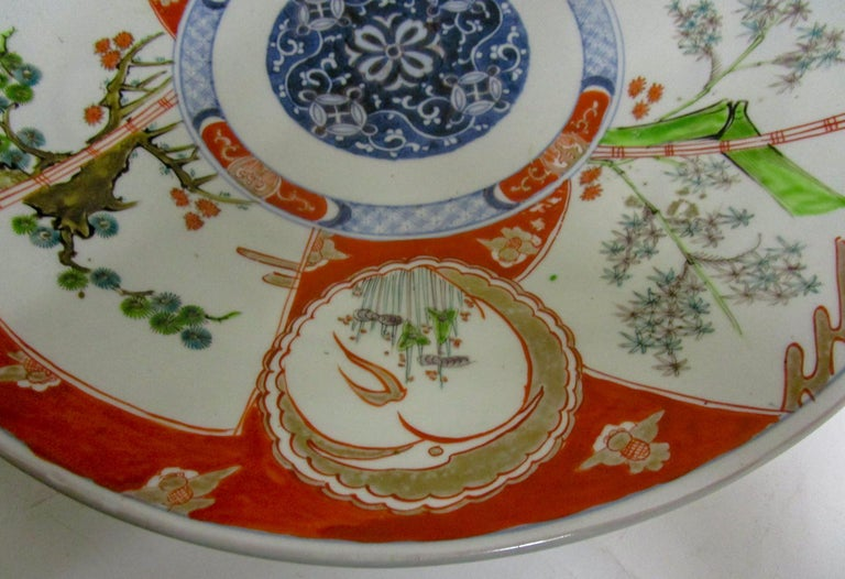 19th Century Japanese Meiji Period Imari Charger For Sale 6