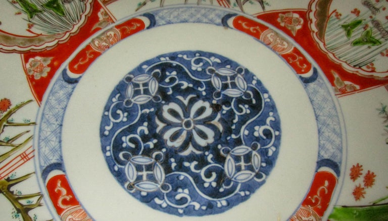 Hand-Painted 19th Century Japanese Meiji Period Imari Charger For Sale