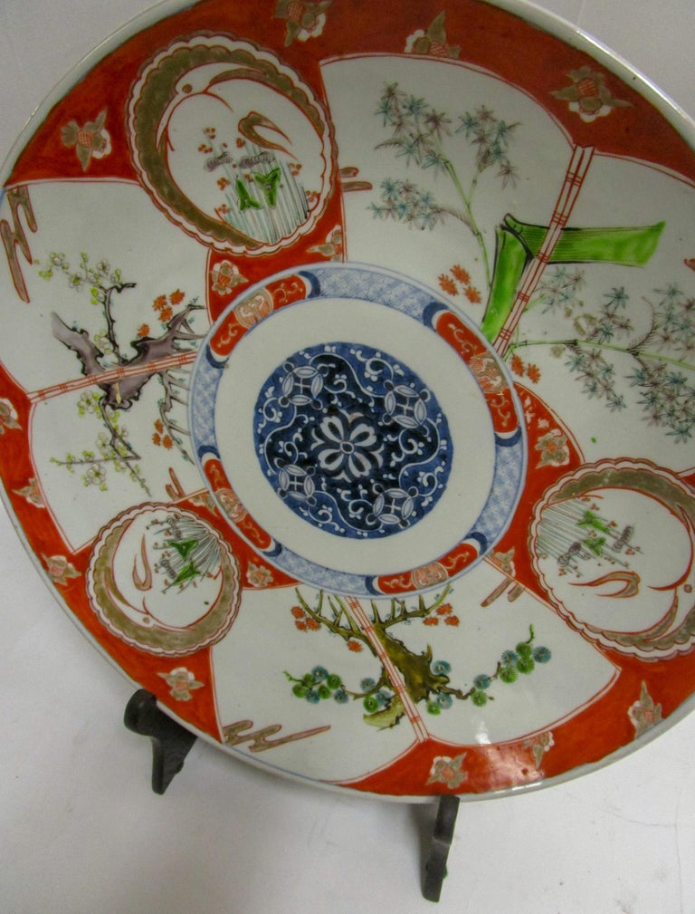 19th Century Japanese Meiji Period Imari Charger In Good Condition For Sale In Savannah, GA