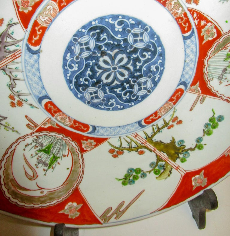 Mid-19th Century 19th Century Japanese Meiji Period Imari Charger For Sale