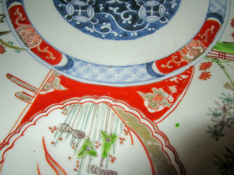 Porcelain 19th Century Japanese Meiji Period Imari Charger For Sale