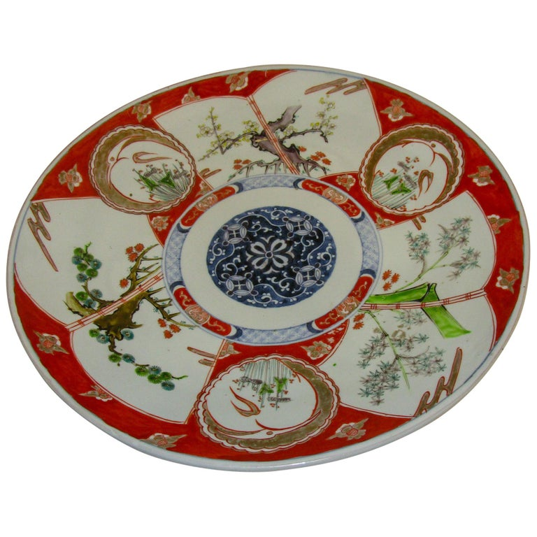 19th Century Japanese Meiji Period Imari Charger For Sale
