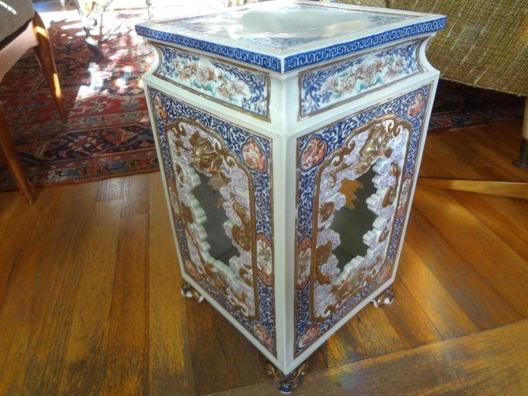 19th Century Japanese Meiji Porcelain Garden Seat or Table For Sale 6