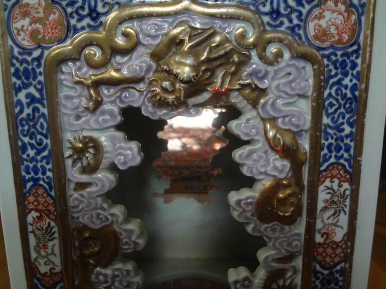 19th Century Japanese Meiji Porcelain Garden Seat or Table In Good Condition For Sale In Houston, TX