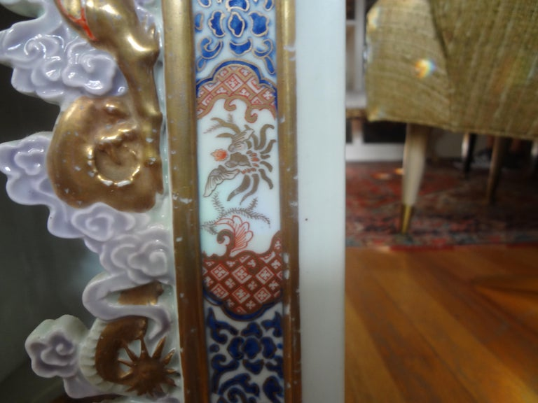 Late 19th Century 19th Century Japanese Meiji Porcelain Garden Seat or Table For Sale