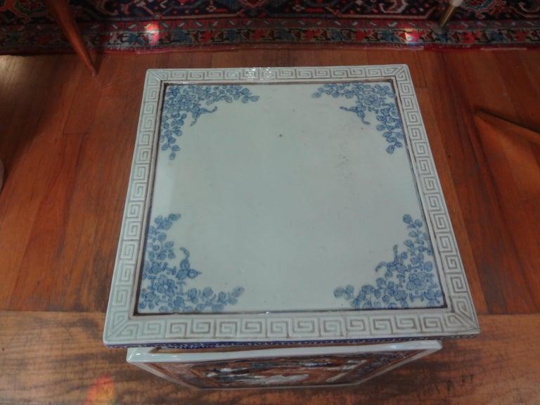 19th Century Japanese Meiji Porcelain Garden Seat or Table For Sale 1